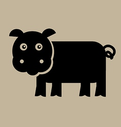 Flat Pig Design vector image