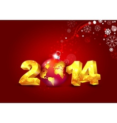 New year 2014 card vector