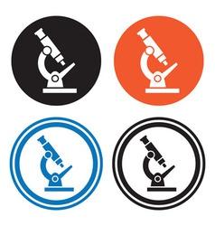 Microscope icons vector