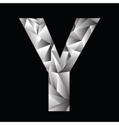 Crystal letter y vector