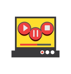 Music player 49 vector image