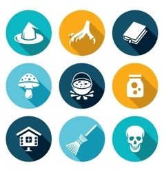 Witch Icons Set vector image