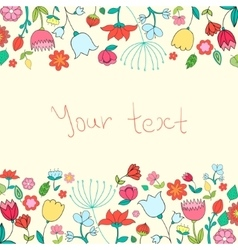 Placeholder card text flowers vector