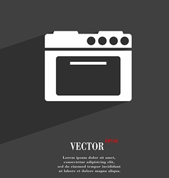 Kitchen stove symbol flat modern web design with vector
