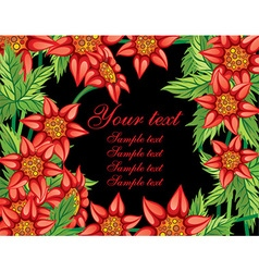 Floral frame with text space vector