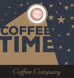 Vintage coffee time background vector