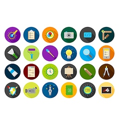 Graphic design round icons set vector