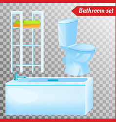 Bathroom interior furniture equipment vector
