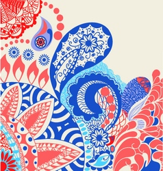 beauty pattern flowers and paisley pattern vector image vector image