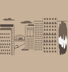 Black and white background cityscape vector