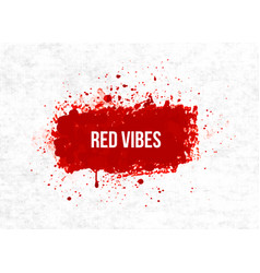 Bright red blood grunge splashes on rice paper vector