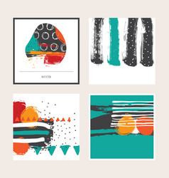 bright set with bright colored square cards vector image vector image