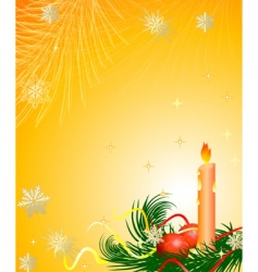 candle Christmas tree vector image vector image