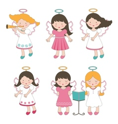Cute little angels vector