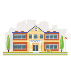 educational building school vector image vector image