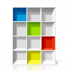 empty bookshelf vector image