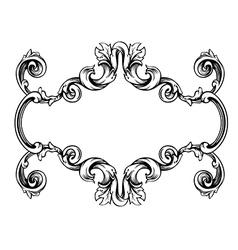 Floral label frame 1 vector image