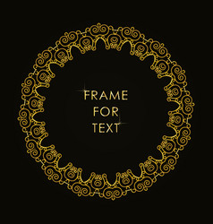 Frame in outline style on black background vector