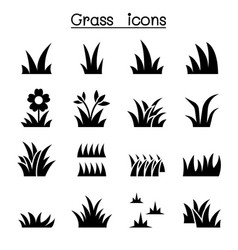 grass icon set graphic design vector image