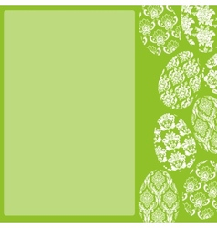 Green Easter Frame vector image