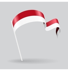 Indonesian wavy flag vector