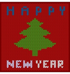 Knitted fabric new year vector