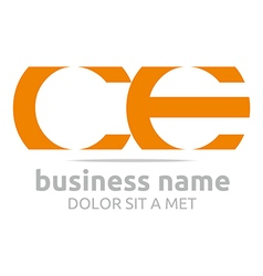 Letter c e alphabet element icon vector