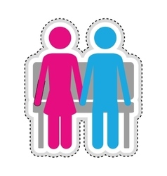 Man woman romantic couple icon image vector