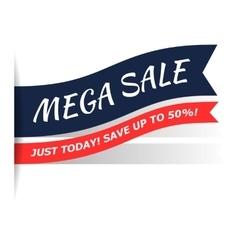 Mega sale flat icon vector