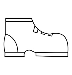 Men winter boot icon outline style vector