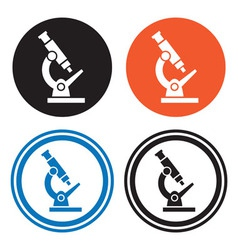 Microscope icons vector