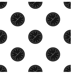 Office clock icon in black style isolated on white vector