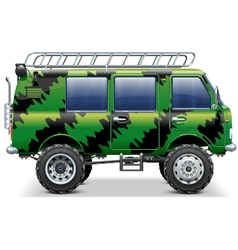 Offroad travel car vector