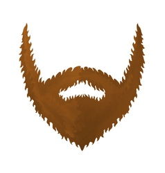 One big brown beard vector