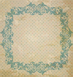 ornate element in Victorian style vector image vector image