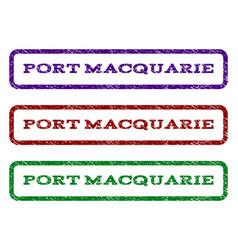 Port macquarie watermark stamp vector
