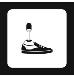 Prosthetic leg icon simple style vector