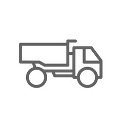 simple heavy truck line icon symbol and sign vector image