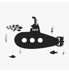 Submarine with periscope vector image