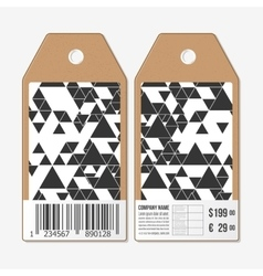 Tags design cardboard sale labels with barcode vector image