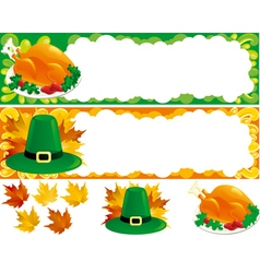 two web banners for thanksgiving vector image vector image