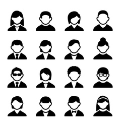 User icons set 2 vector image vector image