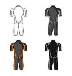 wetsuit icon in cartoon style isolated on white vector image vector image