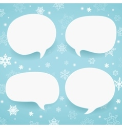 Winter labels in form of speech bubbles vector image