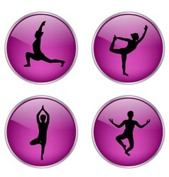 yoga buttons vs vector image