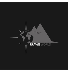 Logo travel world vector