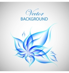 Colorful blue flower vector
