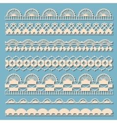 Set of vintage laces vector image