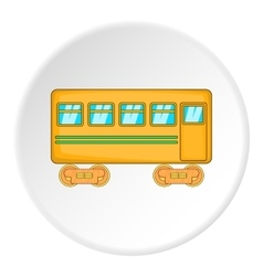 Passenger wagon icon cartoon style vector