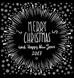 Merry christmas holiday lettering composition vector